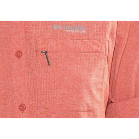 Columbia Irico Maglietta a maniche lunghe Donna rosso